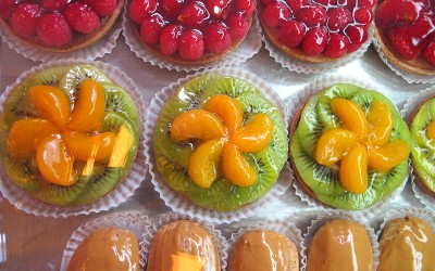 Fruit Tarts and Eclairs