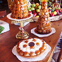 wedding catering croquembouche cakes